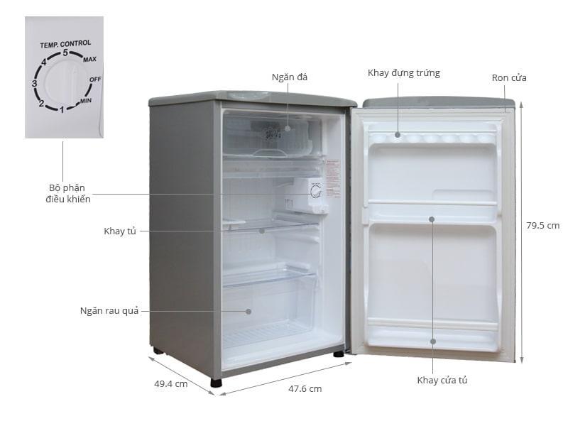 các bộ phận của Tủ lạnh Aqua AQR-95AR
