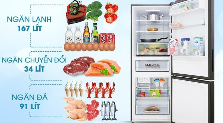 Tủ lạnh Aqua AQR-IG338EB GB có dung tích cho gia đình từ 2-3 người