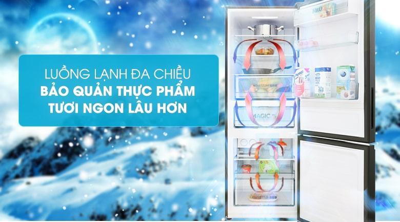 Luồng lạnh đa chiều bảo quản thực phẩm tươi ngon lâu hơn