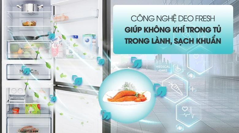 công nghệ DEO FRESH giúp không khí trong tủ trong lành,sach khuẩn