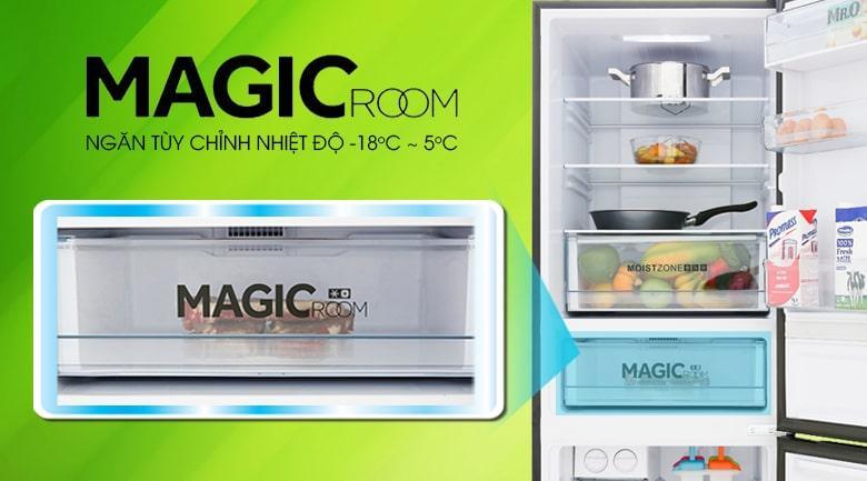 ngăn MAGIC ROOM tùy chỉnh nhiệt độ từ -18 đến +5