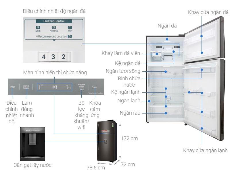 các bộ phận của Tủ lạnh LG GN-D602BL