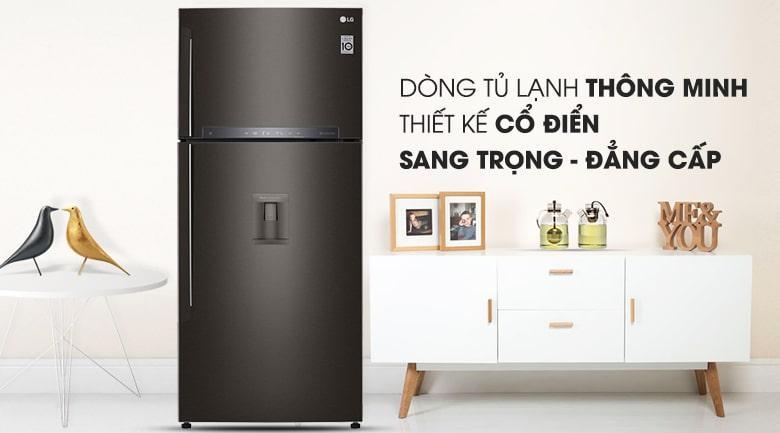 Tủ lạnh LG GN-D602BL thiết kế sang trọng