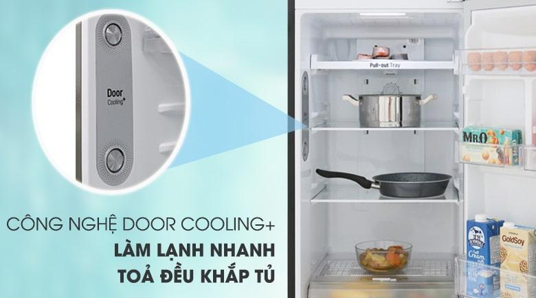 làm lạnh nhanh với công nghệ DOOR COOLINH+ tỏa đều khắp tủ