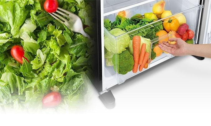 Tủ Lạnh Mitsubishi Electric MR-FX47EN-GBK-V có ngăn rau củ lớn