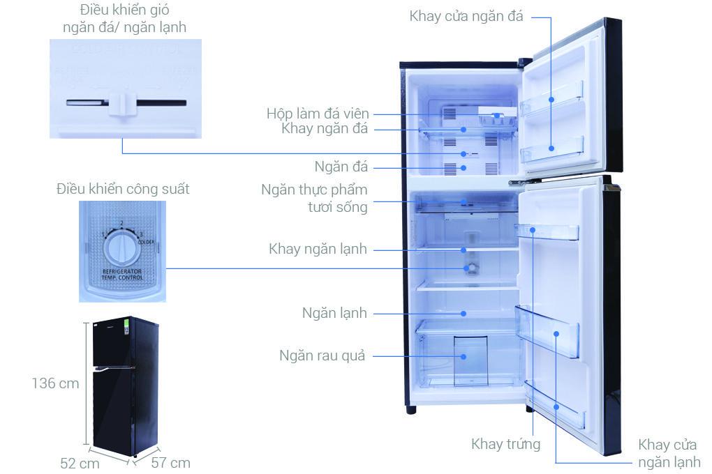 các bộ phận của Tủ lạnh Panasonic NR-BA228PKV1
