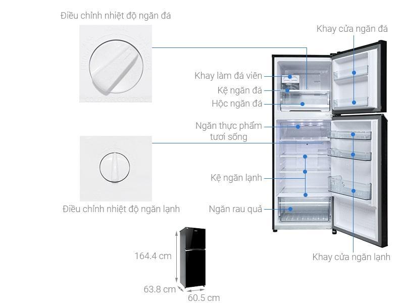 các bộ phận chi tiết của Tủ lạnh Panasonic NR-BL340PKVN