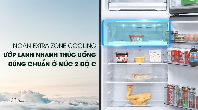 ngăn EXTRA ZONE COOLING ướp lạnh nhanh thức uống đúng chuẩn