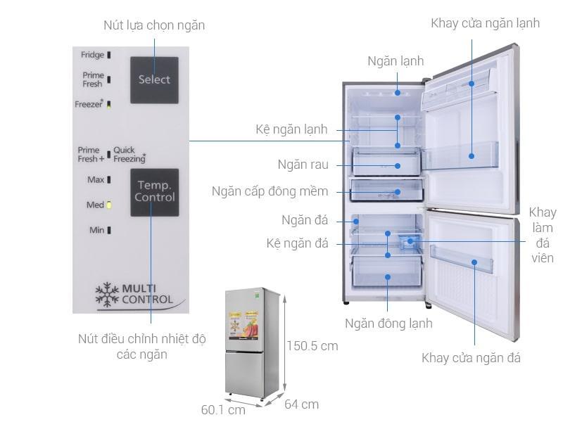 các bộ phận của Tủ lạnh Panasonic NR-BV289QSV2