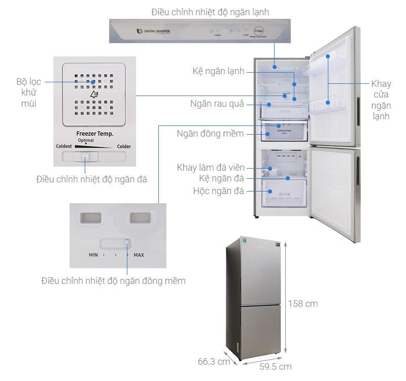 các bộ phận chi tiết của Tủ lạnh Samsung RB27N4010S8/SV