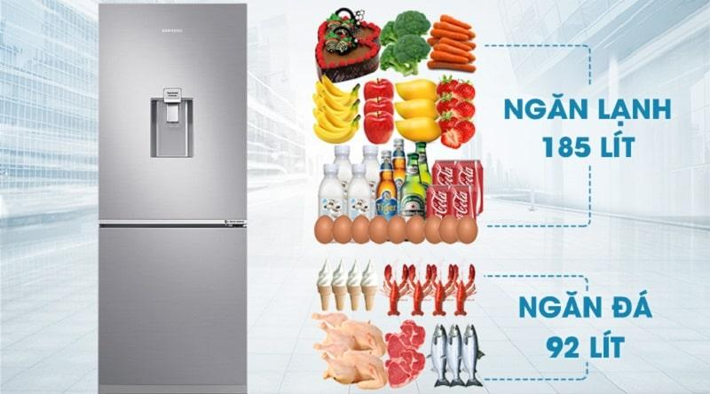 Tủ lạnh Samsung RB27N4170S8/SV có dung tích 277 lít