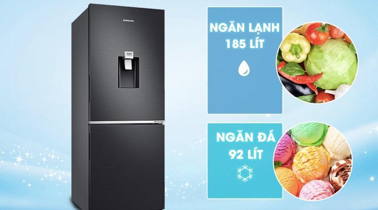 Tủ lạnh Samsung RB27N4180B1/SV có dung tích cho 3-5 người sử dụng