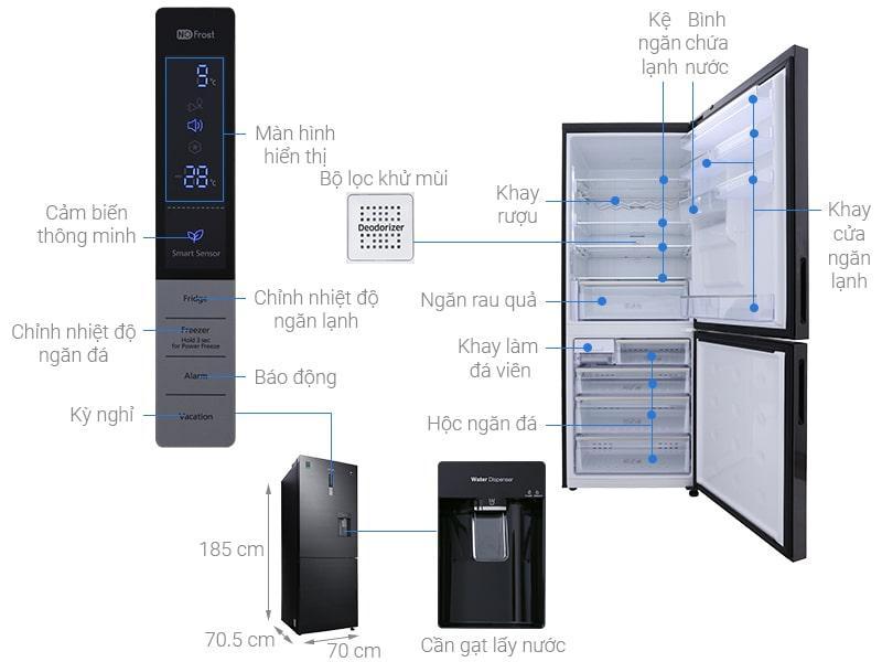 các bộ phận của Tủ lạnh Samsung RL4364SBABS/SV