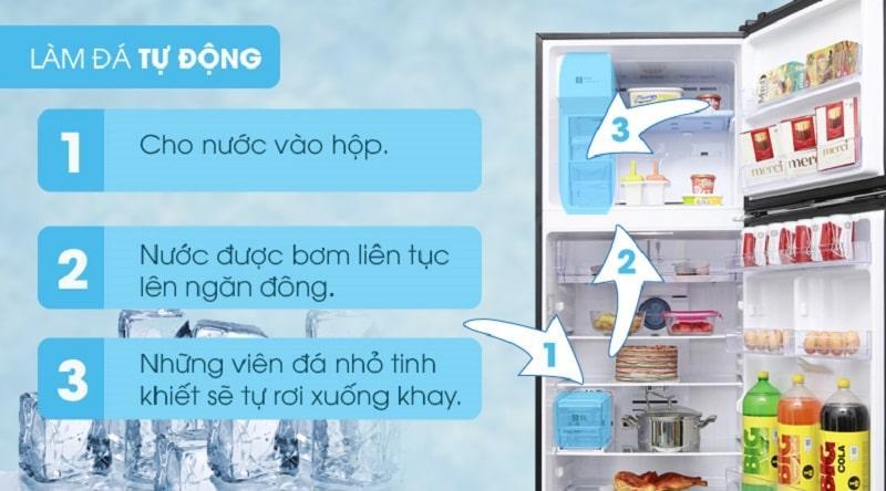 Tủ lạnh Samsung RT35K5982BS/SV làm đá tự động nhanh gọn