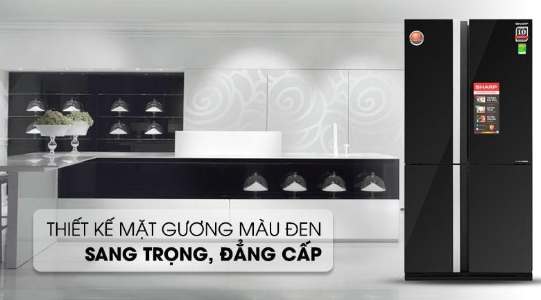 Tủ lạnh Sharp SJ-FX688VG-BK thiết kế sang trọng,lịch lãm