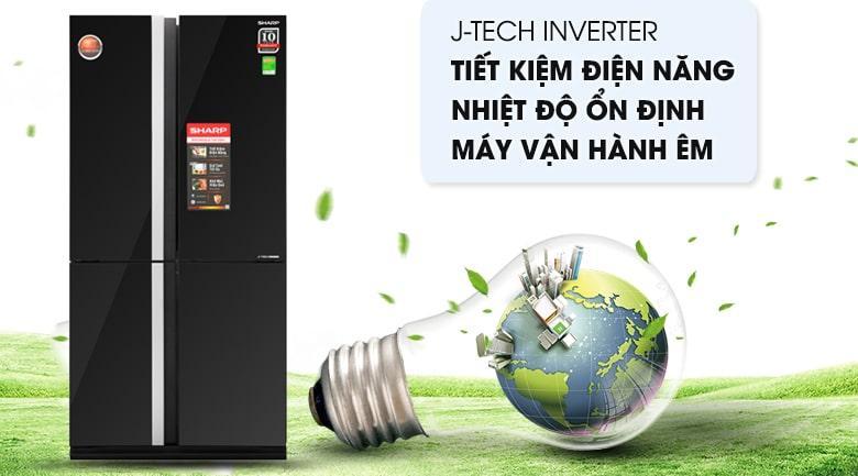công nghệ J-TECH INVERTER tiết kiệm điện năng,nhiệt độ ổn định