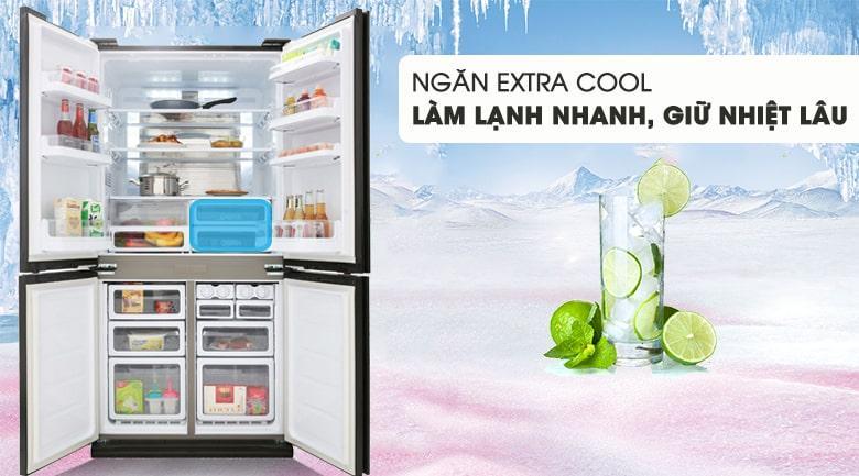 ngăn EXTRA COOL làm lạnh nhanh,giữ nhiệt lâu
