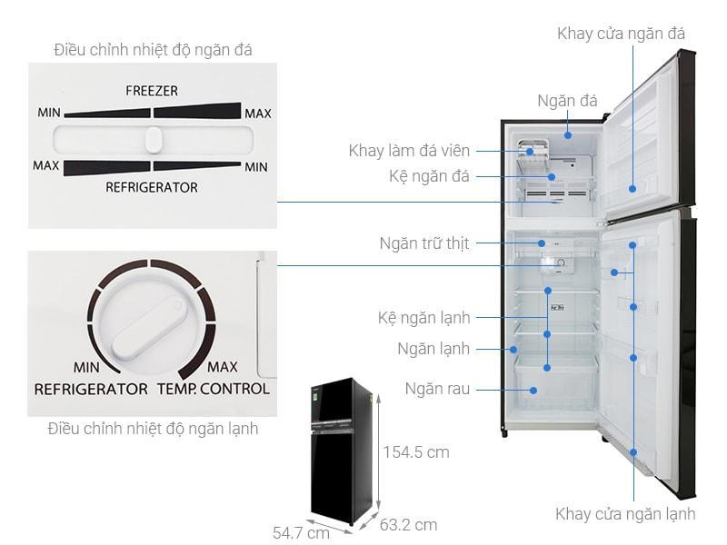 các bộ phận chi tiết của Tủ lạnh Toshiba GR-A28VM(UKG)
