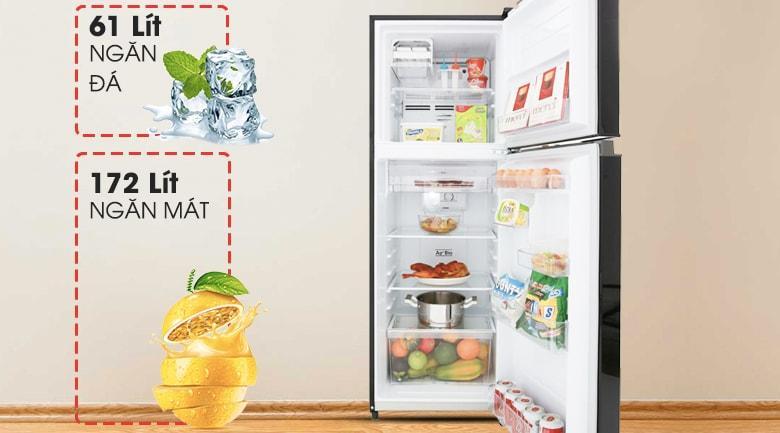 Tủ lạnh Toshiba GR-A28VM(UKG) có dung tích 233 lít