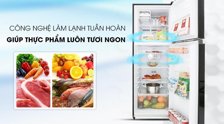 công nghệ làm lạnh tuần hoàn giúp thực phẩm luôn tươi ngon