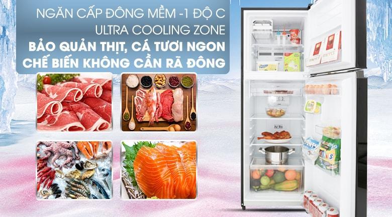 ngăn cấp đông mềm bảo quản thịt cá tươi ngon