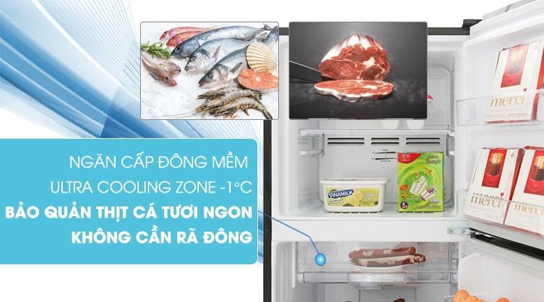 ngăn cấp đông mềm ULTRA COOLING ZONE -1 độ C bảo quản thịt cá tươi ngon