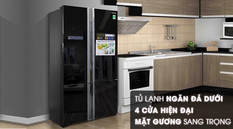 Tủ lạnh Hitachi Inverter 640 lít WB800PGV5 GBK