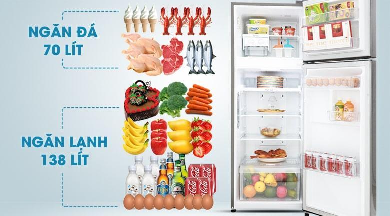 Tủ lạnh LG GN-L208S dung tích