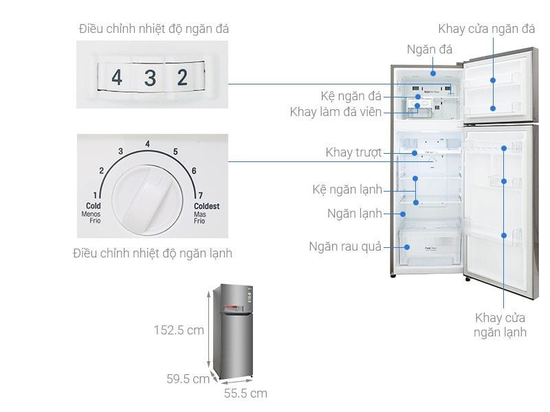 các bộ phận của Tủ lạnh LG GN-L208S