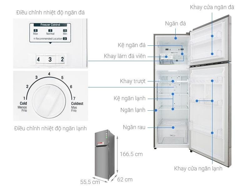 Các bộ phận chi tiết của Tủ lạnh LG GN-L255S