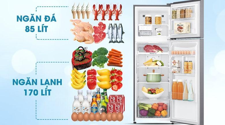 Tủ lạnh LG GN-L255S dung tích cho 2-3 người dùng