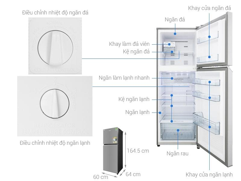 các bộ phận chi tiết Tủ lạnh Panasonic NR-BL340PSVN