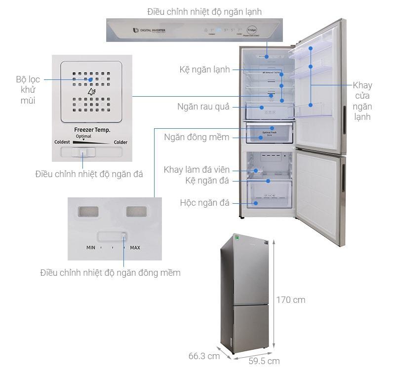 các bộ phận của Tủ lạnh Samsung RB30N4010S8/SV