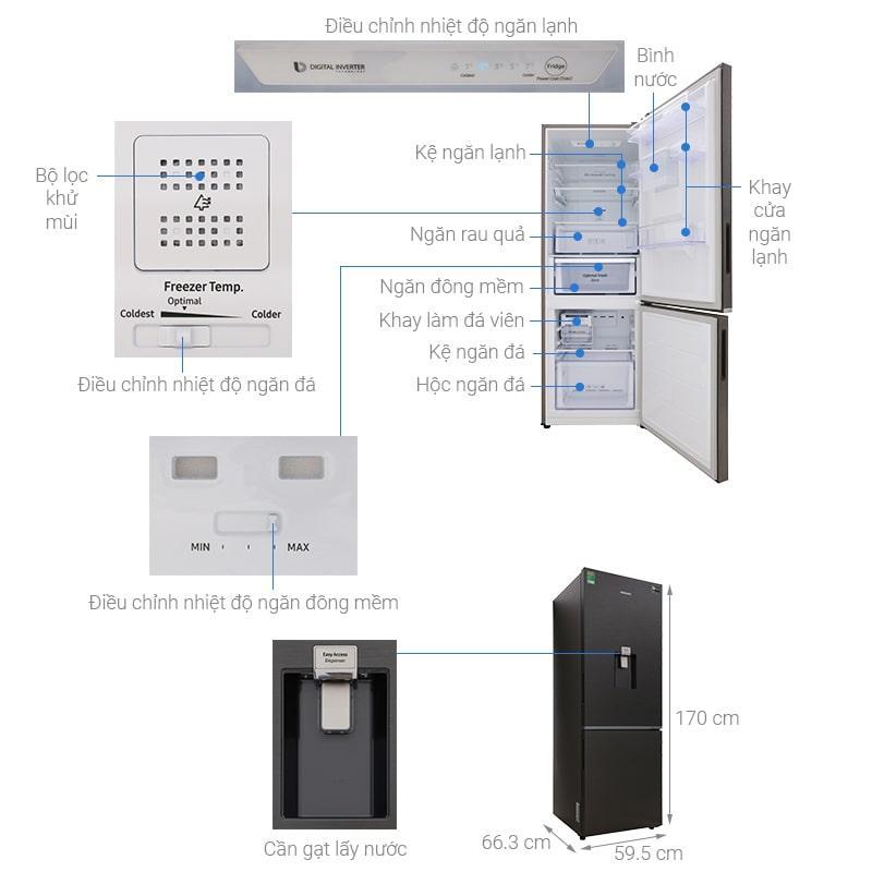 các bộ phận của Tủ lạnh Samsung RB30N4180B1/SV
