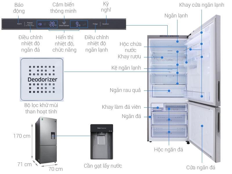 các bộ phận của Tủ lạnh Samsung RL4034SBAS8/SV