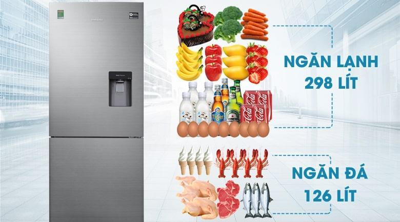 Tủ lạnh Samsung RL4034SBAS8/SV có dung tích 424 lít