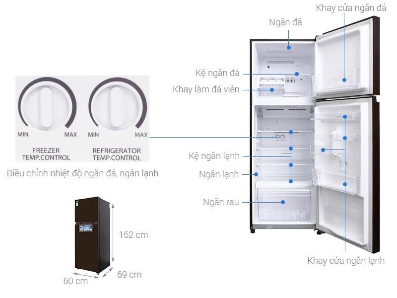 các bộ phận chi tiết của Tủ lạnh Toshiba GR-AG36VUBZ XB