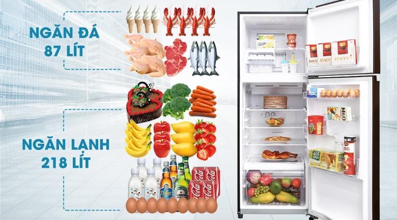 Tủ lạnh Toshiba GR-AG36VUBZ XB có dung tích cho 3-4 người