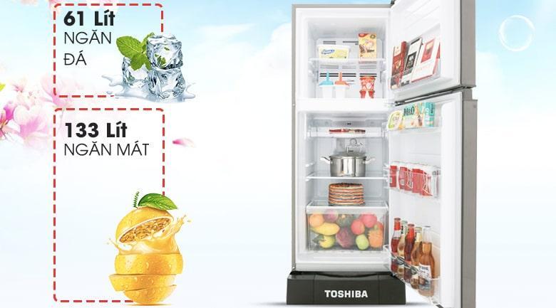 Tủ lạnh Toshiba GR-A25VS (DS) dung tích 194 lít