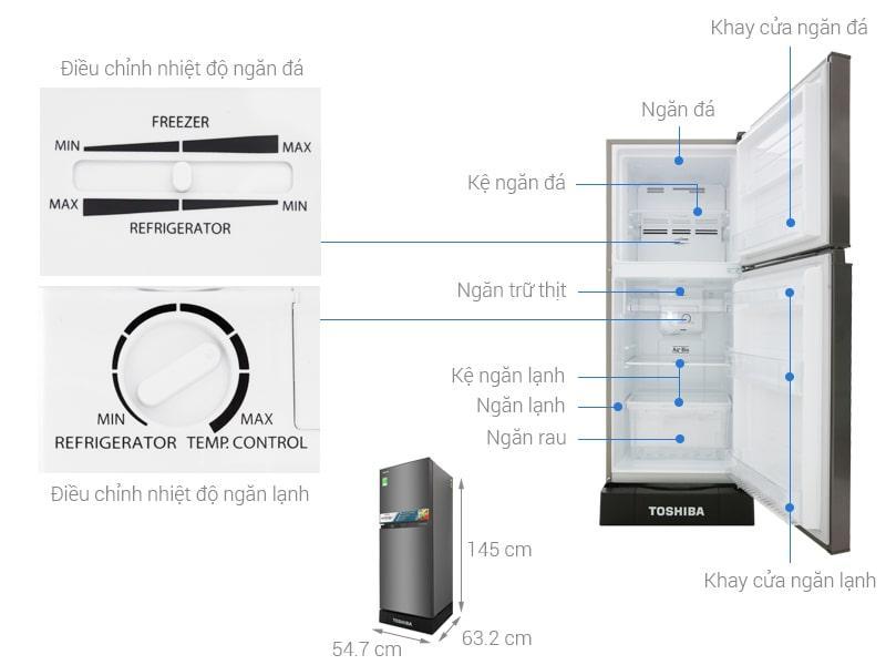 các bộ phận của Tủ lạnh Toshiba GR-A25VS (DS)