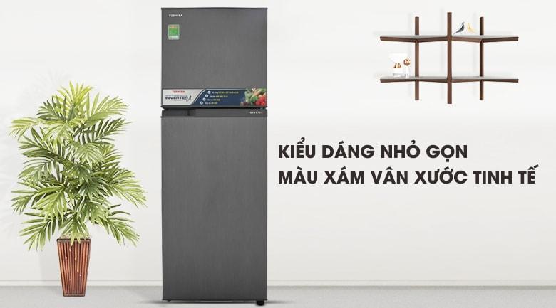 Tủ lạnh Toshiba GR-A28VS (DS) kiểu dáng nhỏ ngọn,màu xám tinh tế