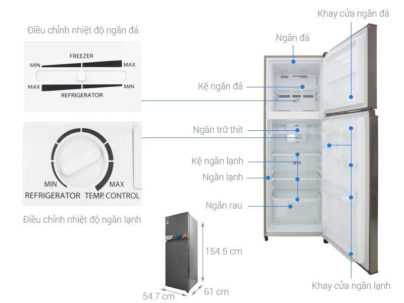 các bộ phận chi tiết của Tủ lạnh Toshiba GR-A28VS (DS)