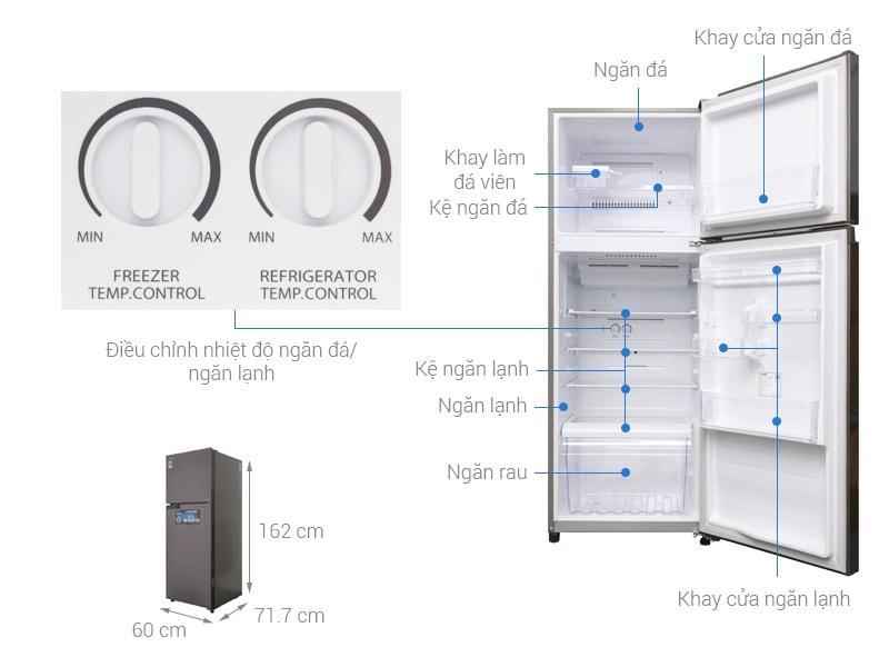 các bộ phận chi tiết của Tủ lạnh Toshiba GR-A36VUBZ DS1
