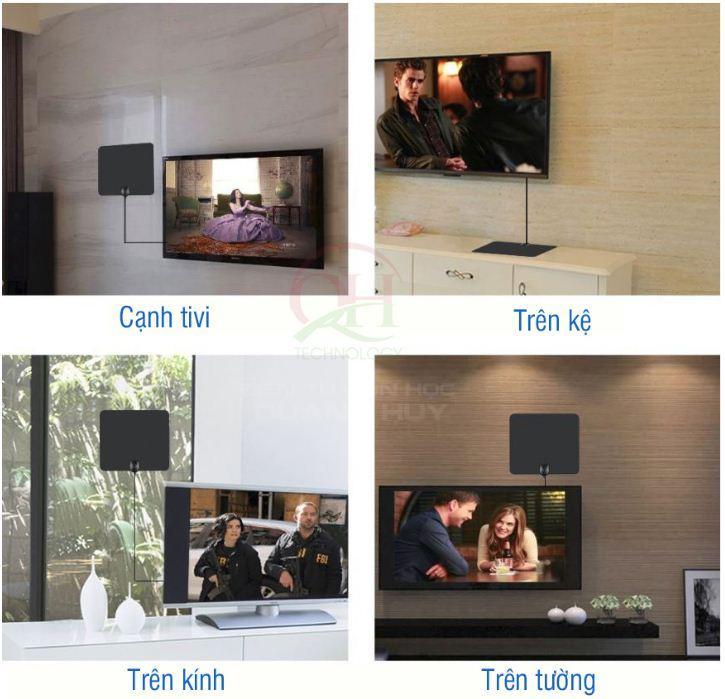 Anten DVB-T2 (ăng-ten) trong nhà có khuếch đại