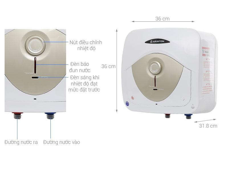 mô tả sản phẩm Bình nóng lạnh Ariston AN 15 RS MT