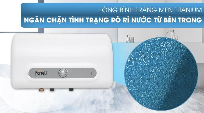 lòng bình tráng men titanium ngăn chặn tình trạng rò rỉ nước từ bên trong