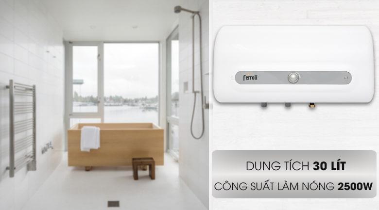thiết kế Bình nóng lạnh Ferroli QQ Evo 30L ME