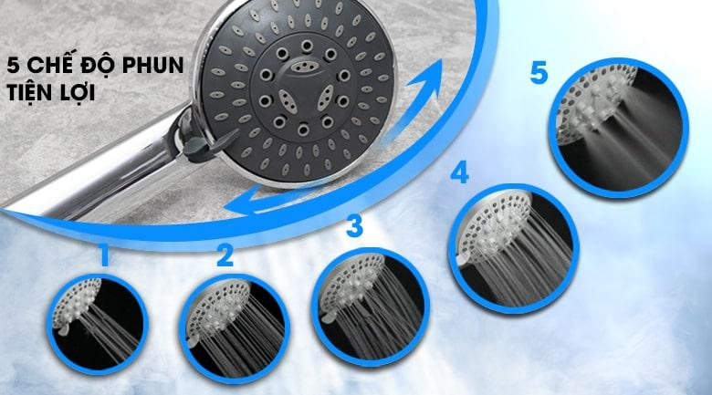 Bình nóng lạnh Ariston RMC45E-VN có 5 chế độ phun tiện lợi