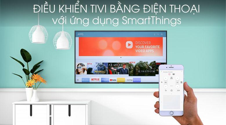 điều khiển tivi 43ru7400 bằng điện thoại thông qua ứng dụng smartThing