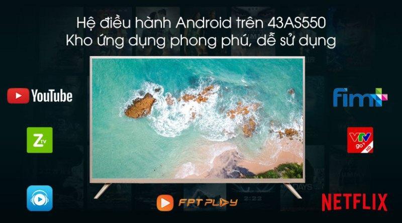Tivi cong Asanzo 40CV6600 Smart 40 inch
